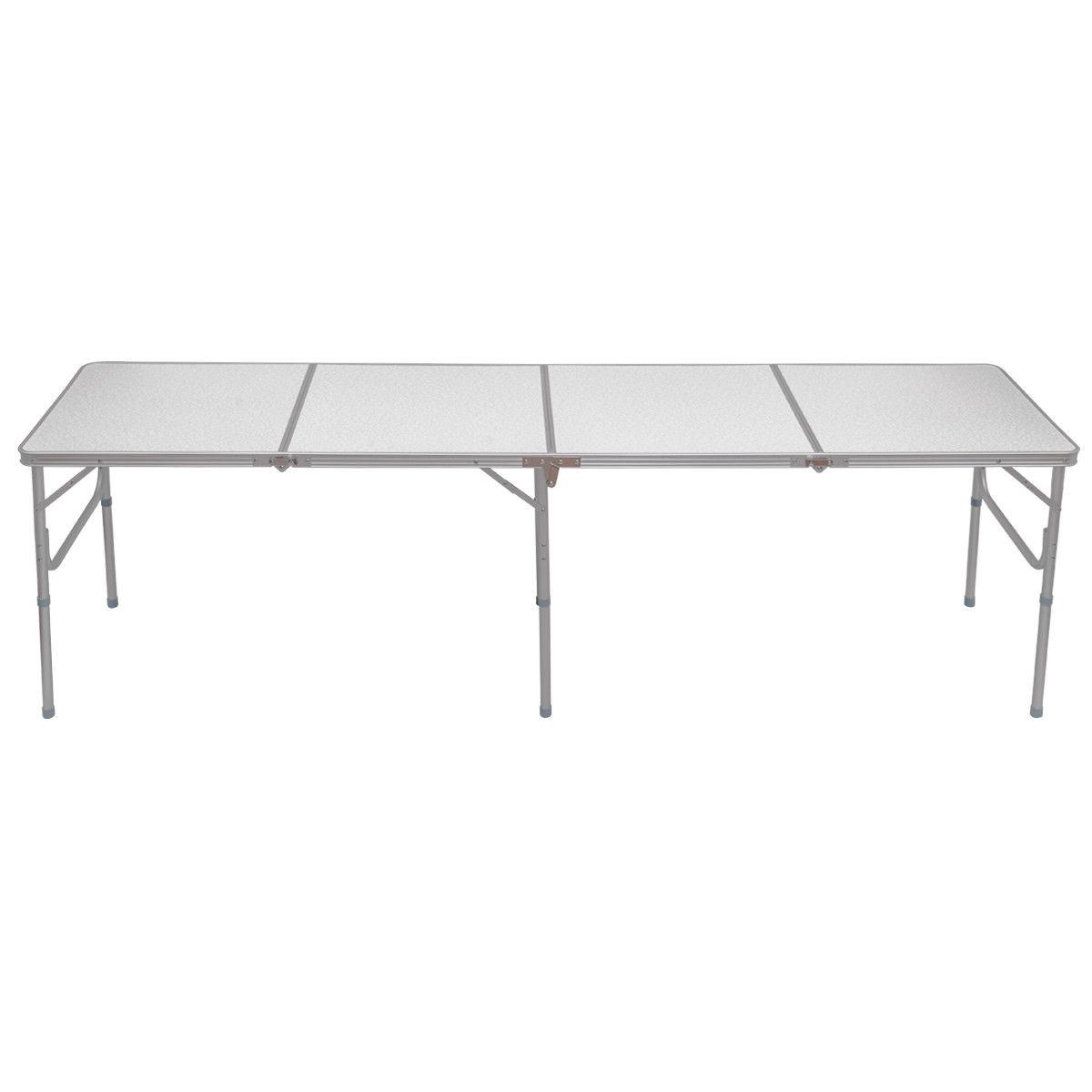 8 ft Aluminum Folding Picnic Camping Table