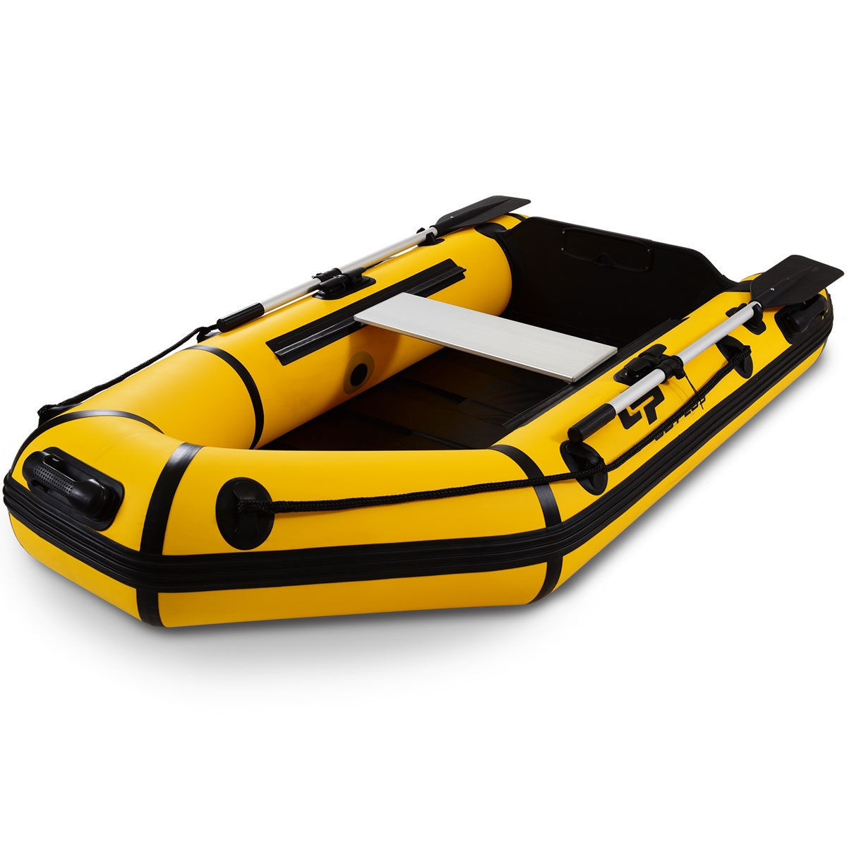 Goplus 2 Person 7.5 ft Inflatable Fishing Tender Rafting Dinghy Boat-Yellow