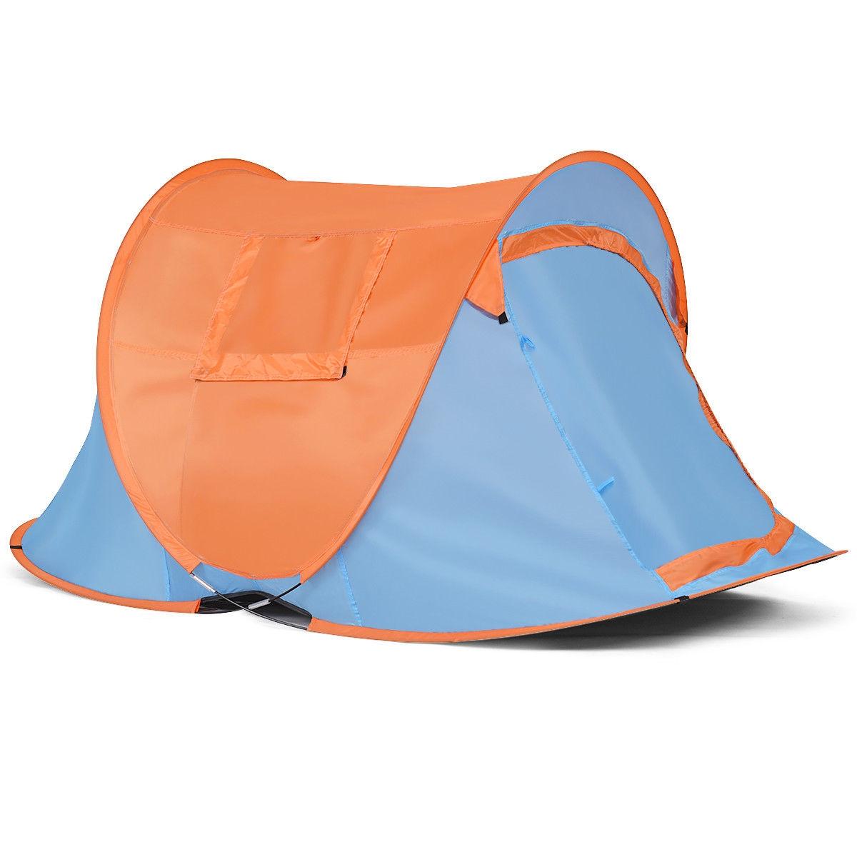 Portable Water Resistant Automatic Pop-up Tent-Blue & Orange