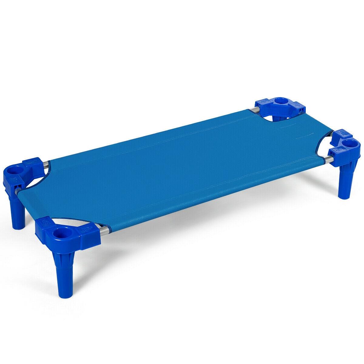 Pack of 6 Stackable Daycare Standard Rest Cots-Blue