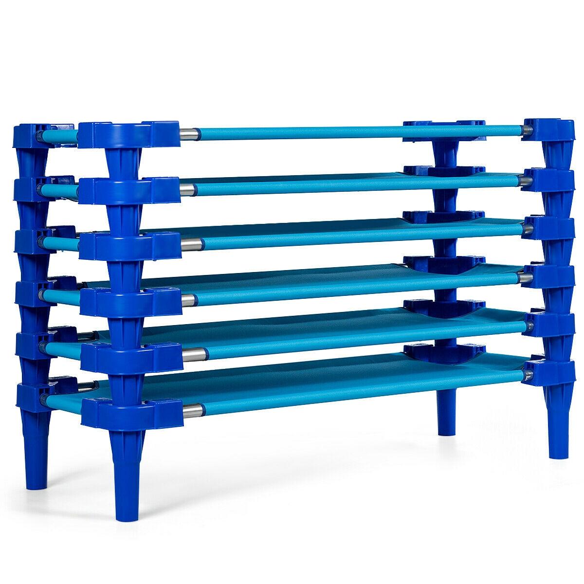 Pack of 6 Stackable Daycare Standard Rest Cots-Light Blue