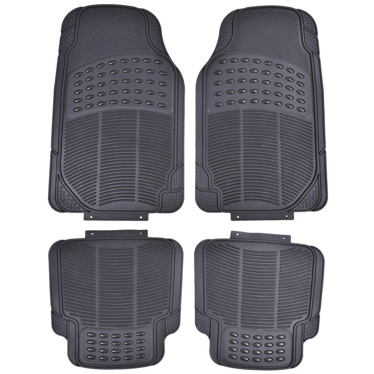 4 PC Cargo Front & Rear Floor Mat All Weather Heavy Duty Universal Cars Protection