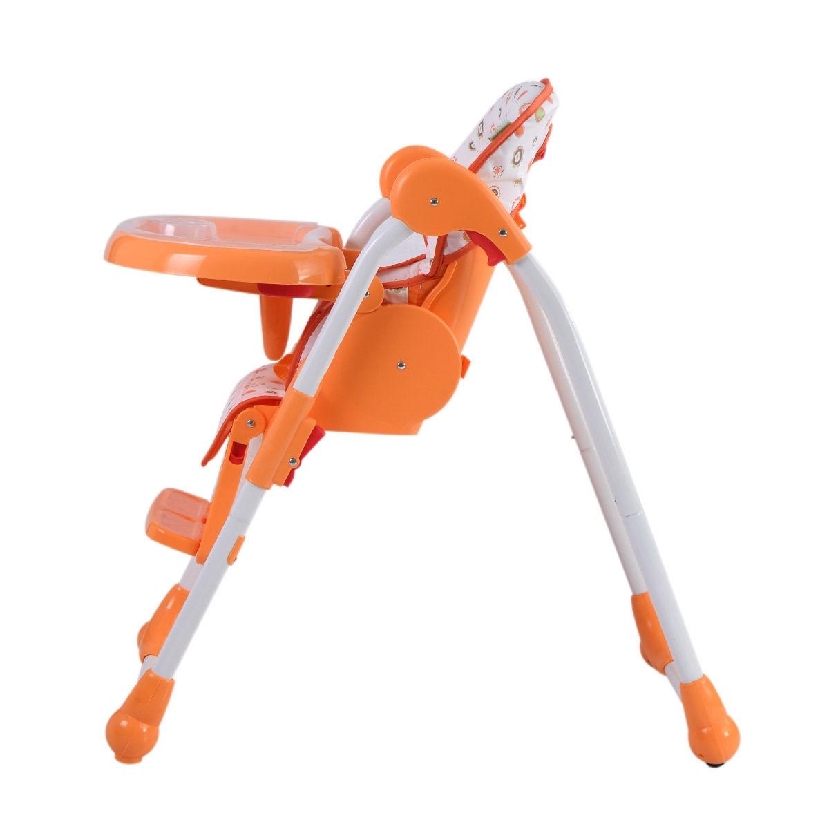 Adjustable Baby High Chair Infant Toddler Feeding Booster Seat Folding-orange