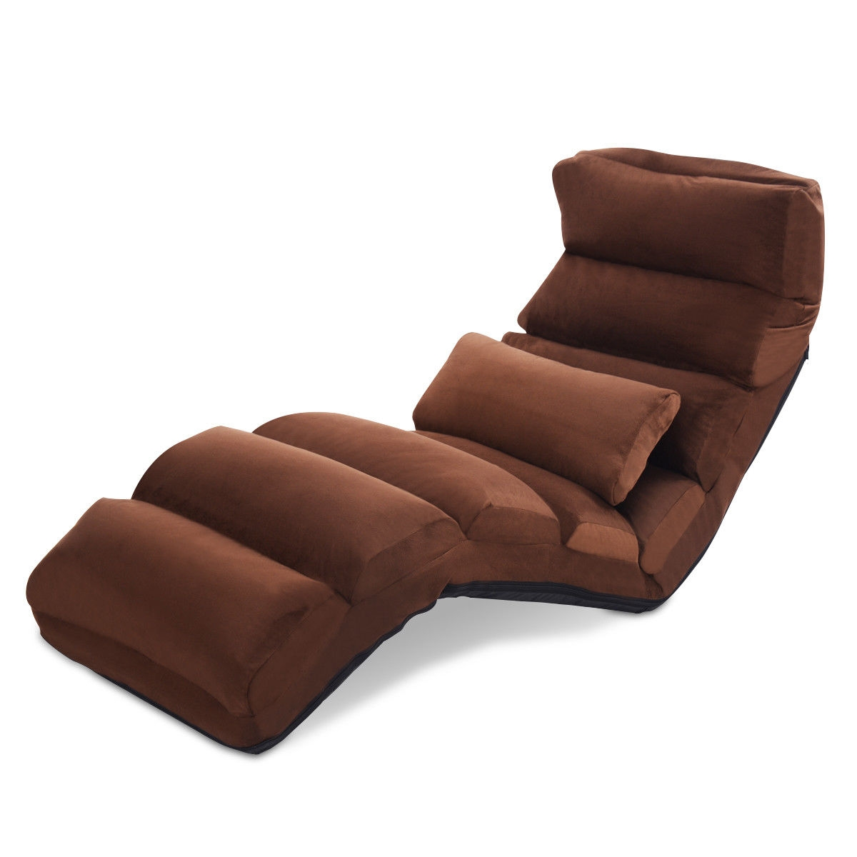 Folding Lazy Sofa Chair Stylish Sofa Couch Beds Lounge Chair W/Pillow
