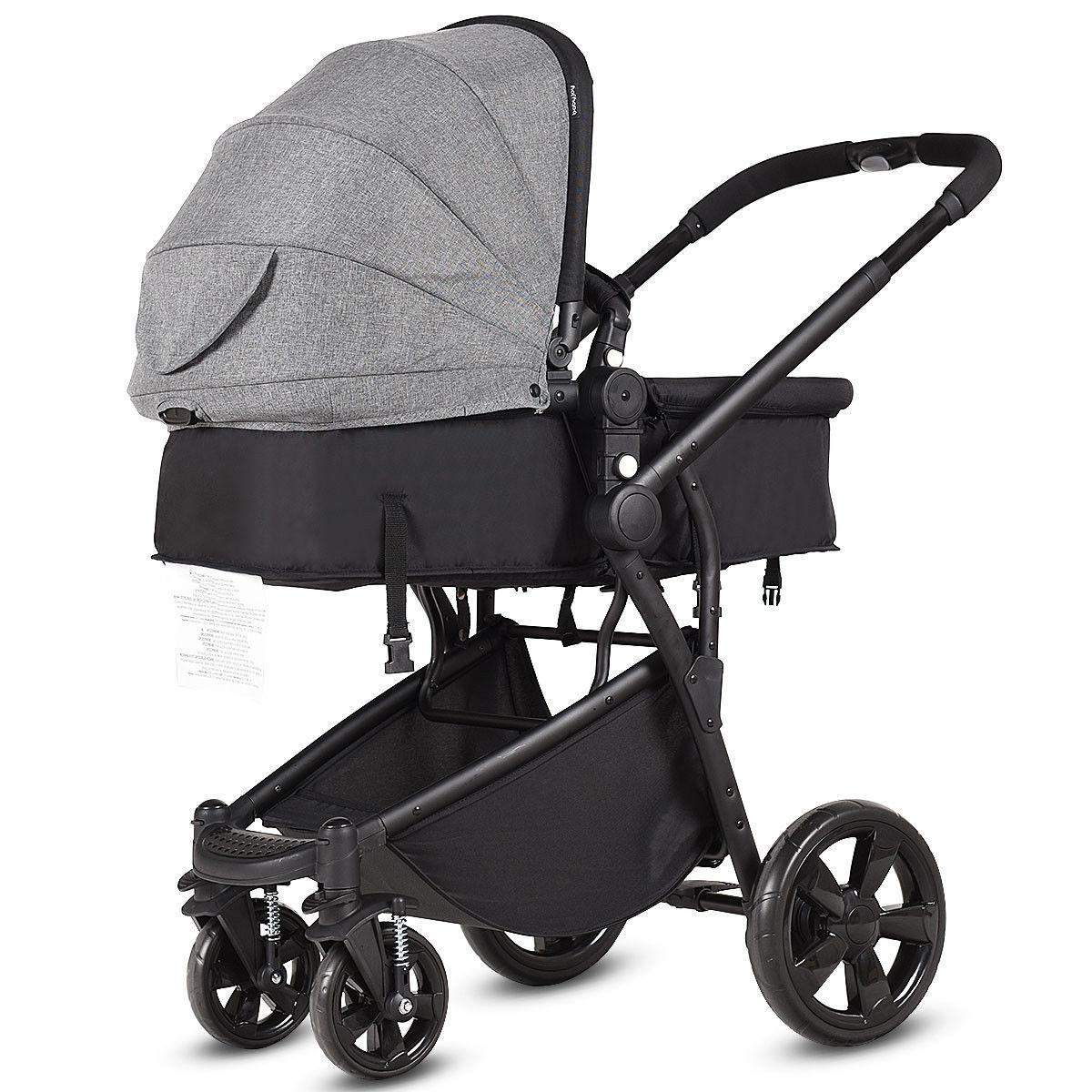 2-in-1 Folding Aluminum Buggy Newborn Travel Baby Stroller