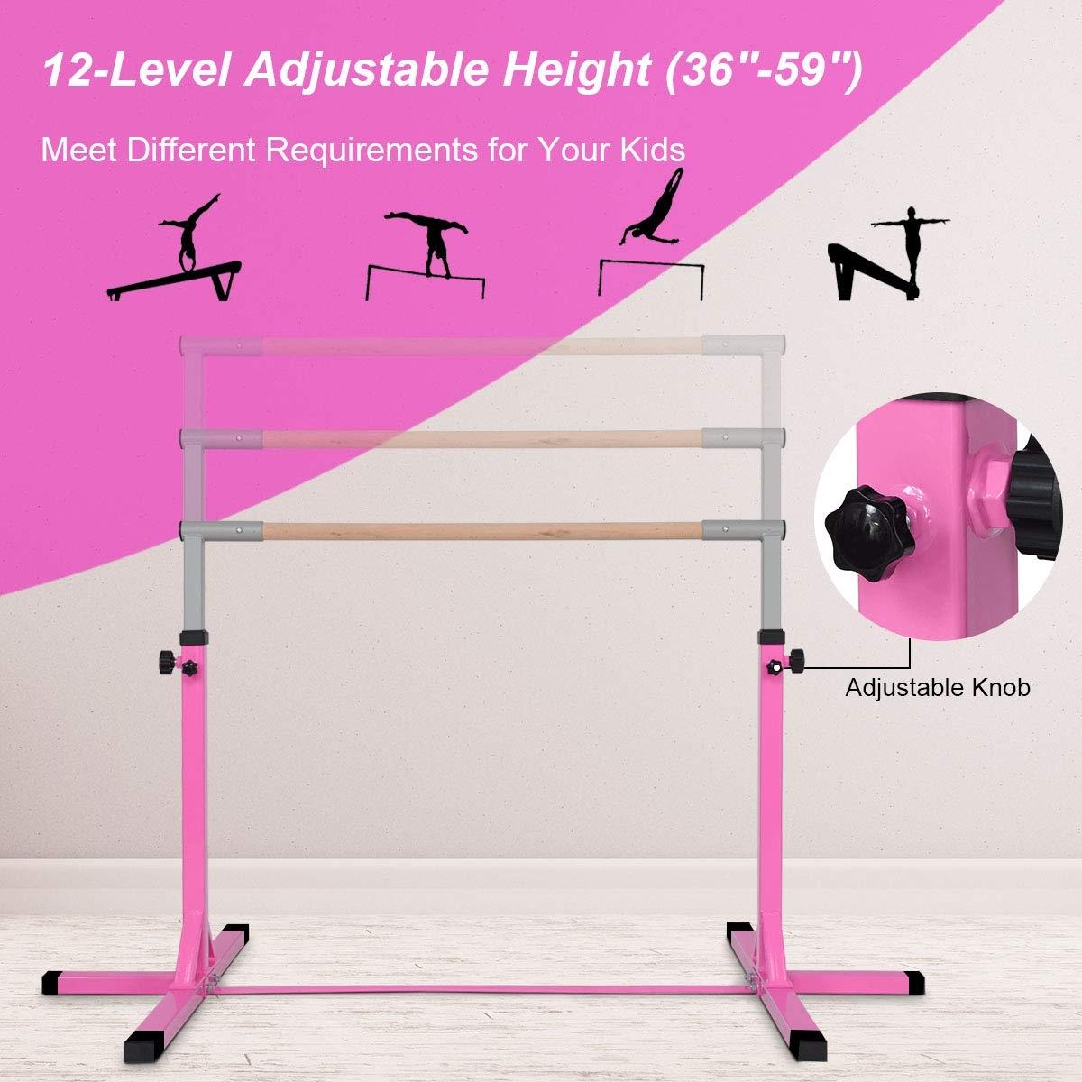 Adjustable Gymnastics Bar Horizontal Bar for Kids