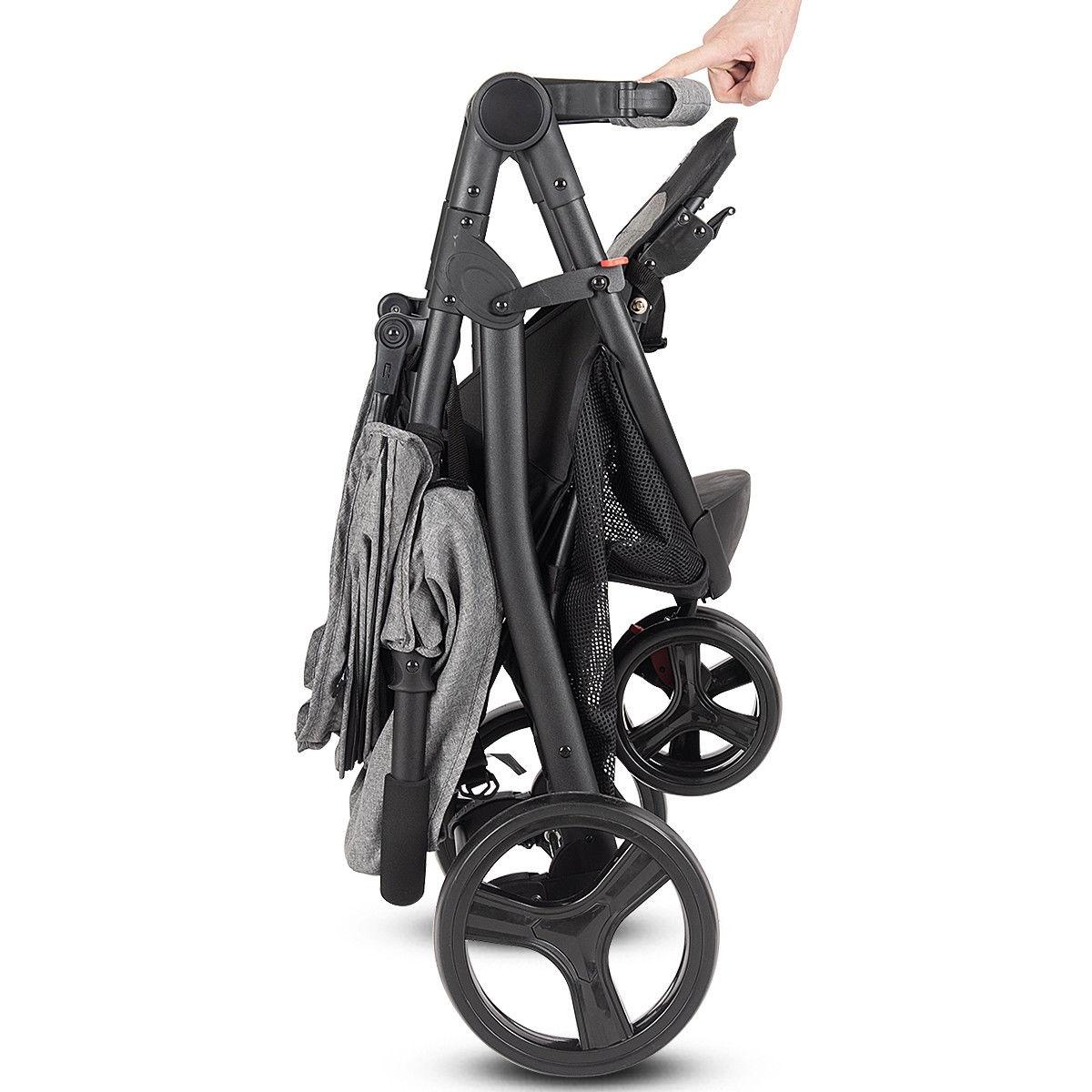Portable Folding Baby Stroller Kids Travel Pushchair-Gray