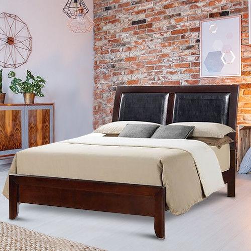 Tall Head Classic Furniture Wood Platform Bed Frame