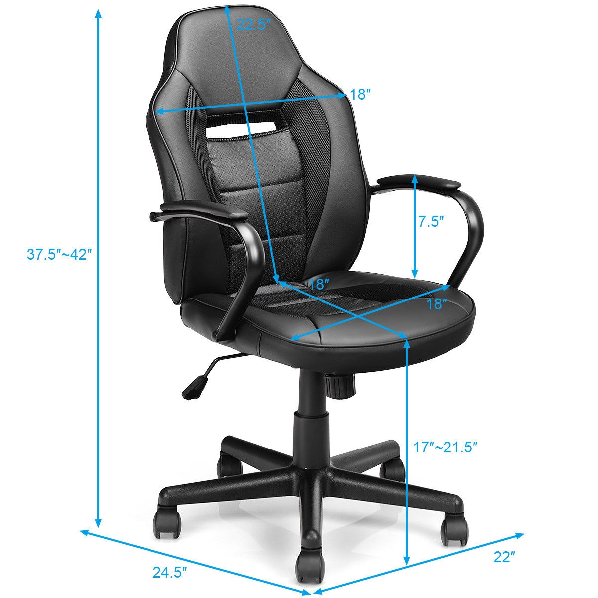 Gaming Chair Mid-Back Office Chair Racing Chair