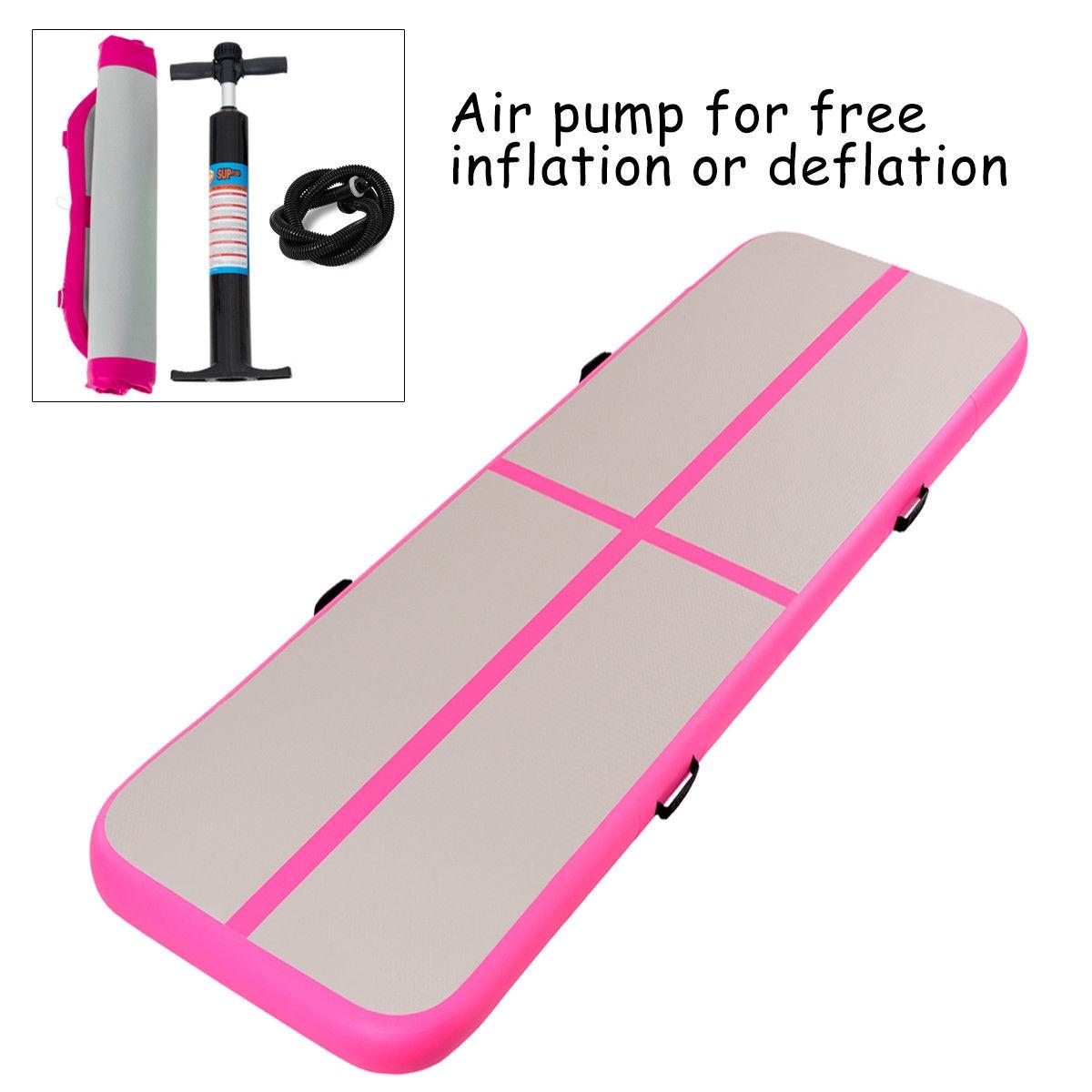 3' Inflatable Gymnastics Mat Air Track Floor Mat with Pump