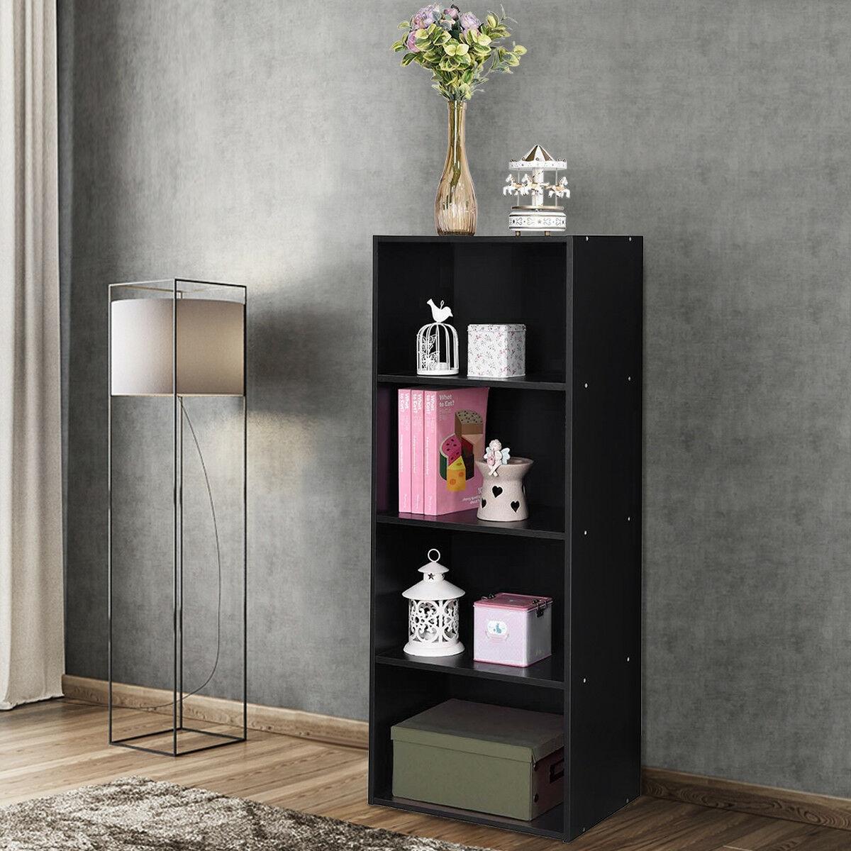 4 Tier Open Shelf  Storage Display Cabinet