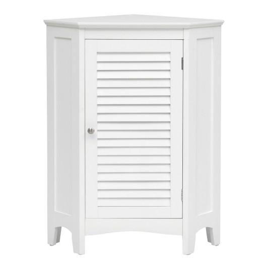 Corner Storage Cabinet Free Standing Bathroom Cabinet With Shutter Door Garden Home Center